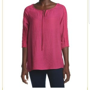 NWT Open Arm Pink Blouse